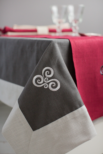 "Handmade ""Carrig"" Tablecloth / Throw/ Bed Topper"